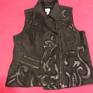 🌵Chicos Black Faux Vest 🌵